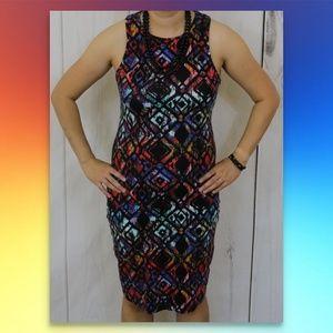 WAYF Nordstrom Dress Rainbow Tribal Graffiti Trend